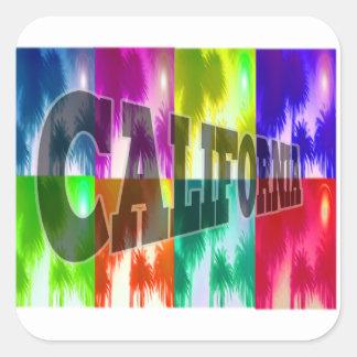 """California"" Colorful Palms Sticker"