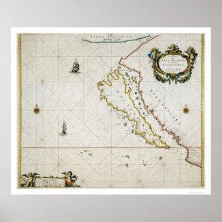 California como isla póster