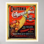 California - cornucopia del mundo impresiones