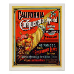 California - cornucopia del mundo póster