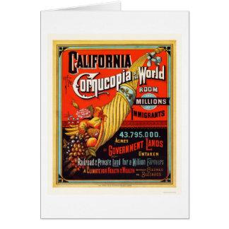 California - cornucopia del mundo tarjeta de felicitación