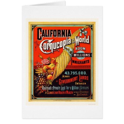 California - Cornucopia of the World Cards