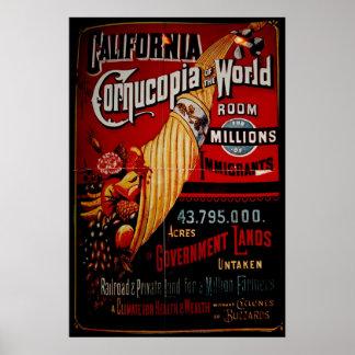 California Cornucopia of the World Poster