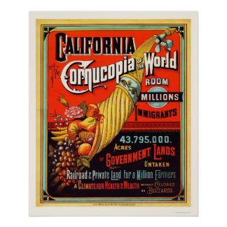 California - Cornucopia of the World Poster