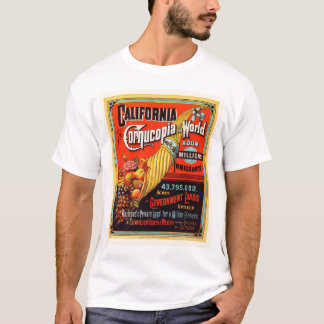 California - Cornucopia of the World T-Shirt