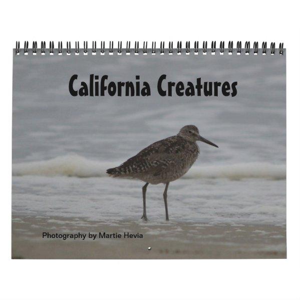 California Creatures Calendar (Sept-Aug)