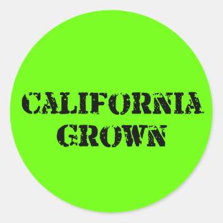 California crecida pegatina redonda