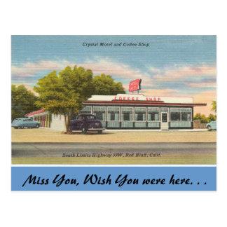 California, Crystal Motel & Coffee Shop Postcard