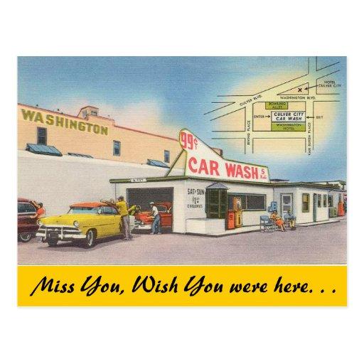 California, Culver City Car Wash Postcards