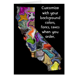 California Customize colorful card how you want it