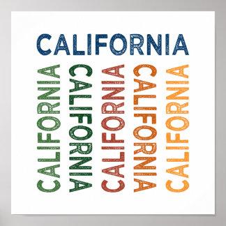 California Cute Colorful Poster