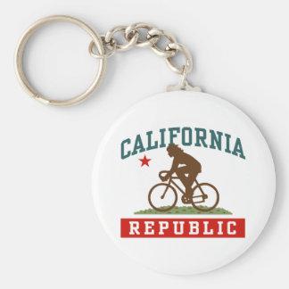 California Cycling Female Keychain