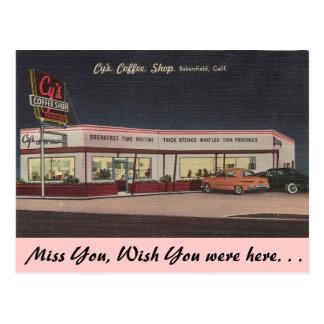 California, Cy's Coffee Shop Postcard