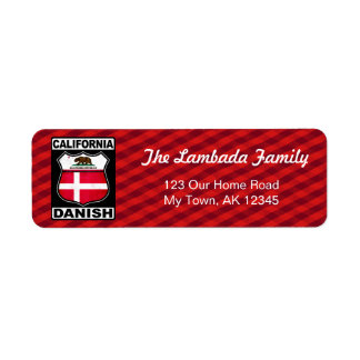 California Danish American Address Labels