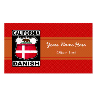 California Danish American Custom Business Cards