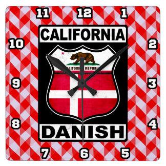California Danish American Wall Clock
