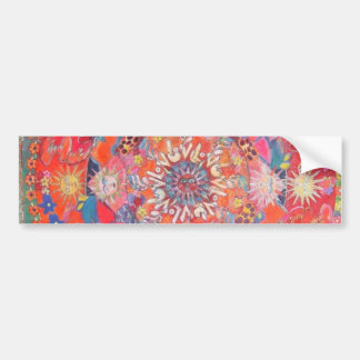California Daze Mandala Bumper Sticker