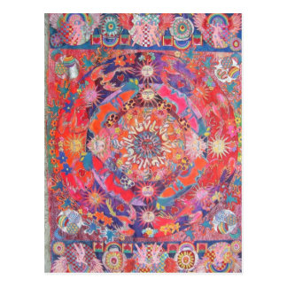California Daze Mandala Postcard
