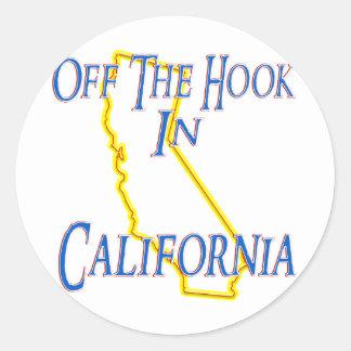 California - del gancho etiqueta redonda