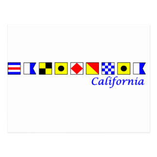 California deletreó con alfabeto náutico de la postal