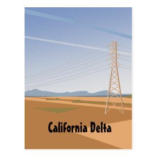 California Delta postcard