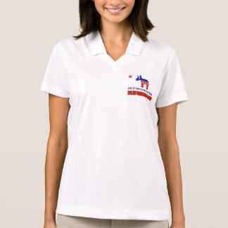 california democrat distressed polo shirt