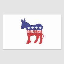 California Democrat Donkey Rectangular Sticker