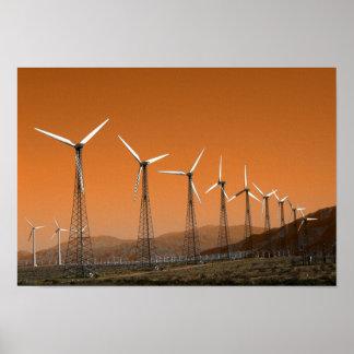 California Desert Wind Farm Poster