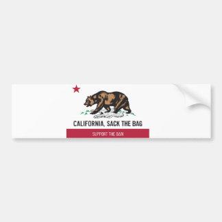 California, despide el bolso etiqueta de parachoque