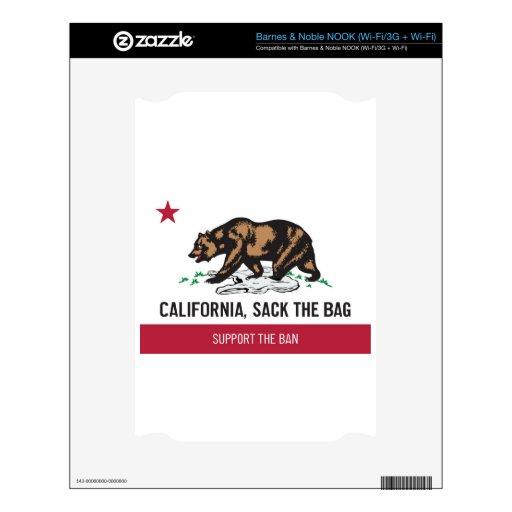 California, despide el bolso calcomanía para NOOK