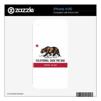 California, despide el bolso iPhone 4S skins