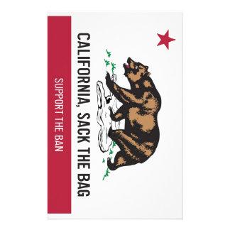 California, despide el bolso papelería