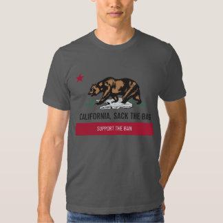 California, despide la camiseta suave del bolso playeras