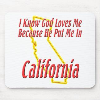 California - dios me ama tapetes de ratones