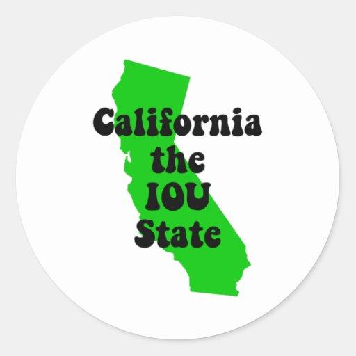 California divertida pegatina redonda