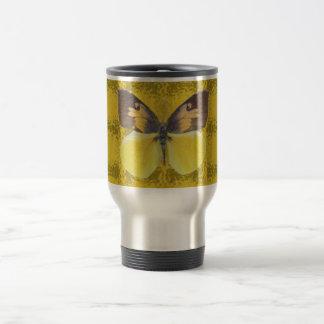 California Dog Face Butterfly Travel Mug