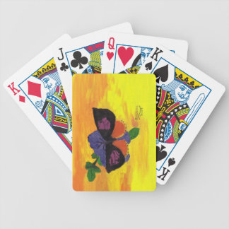 California Dogface Butterfly Bicycle Playing Cards