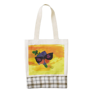 California Dogface Butterfly Zazzle HEART Tote Bag