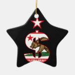 California Dollar Sign Christmas Ornaments