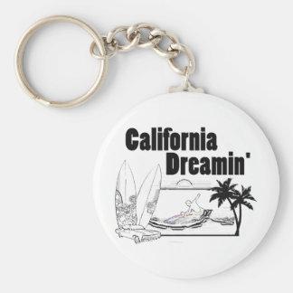 California Dreamin' Basic Round Button Keychain