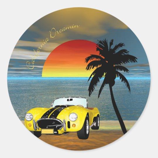 California Dreamin Classic Round Sticker