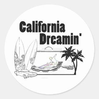 California Dreamin' Classic Round Sticker