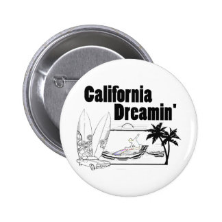 California Dreamin' Pinback Button