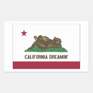 California Dreamin Rectangular Sticker