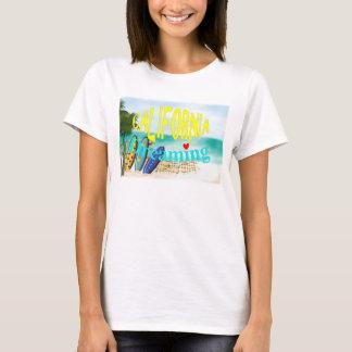 California Dreaming Beach Sun Surfing Graphic T-Shirt