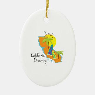 California Dreaming Ceramic Ornament