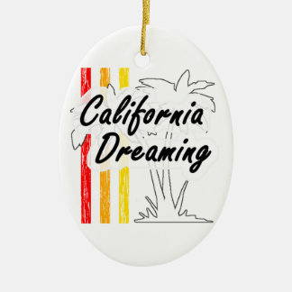 California Dreaming Ceramic Ornament