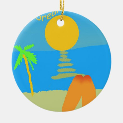 California Dreaming Christmas Ornaments