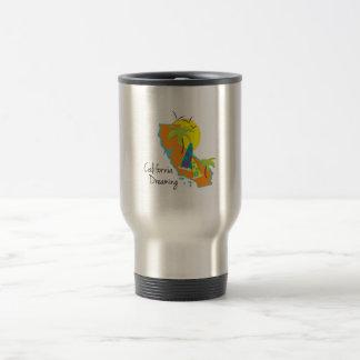 California Dreaming 15 Oz Stainless Steel Travel Mug