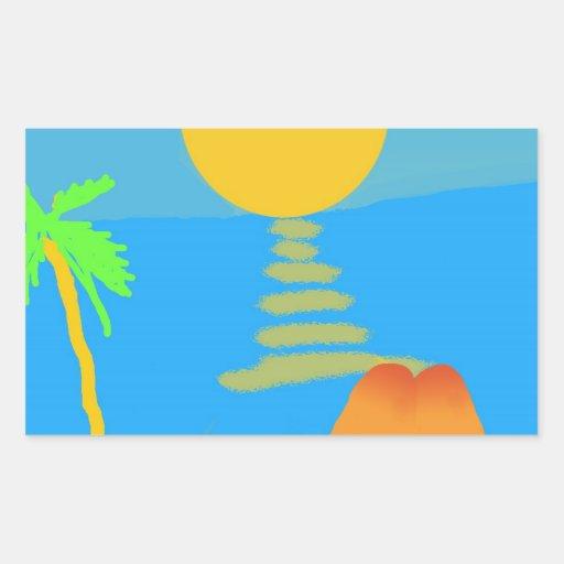 California Dreaming Rectangular Sticker
